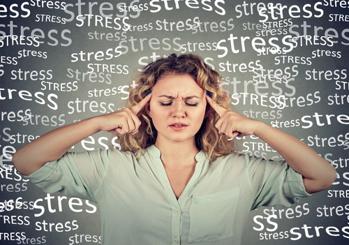 woman is stressed